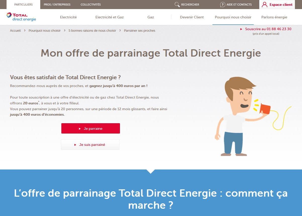 l'offre de parrainage direct energie